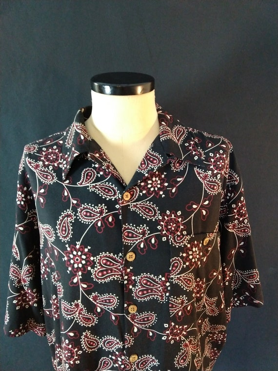 Men's Silk shirt WtF brand retro camp shirt paisle