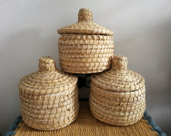 small trinket bowl hand woven basket with decorative cross.htm lidded basket etsy  lidded basket etsy