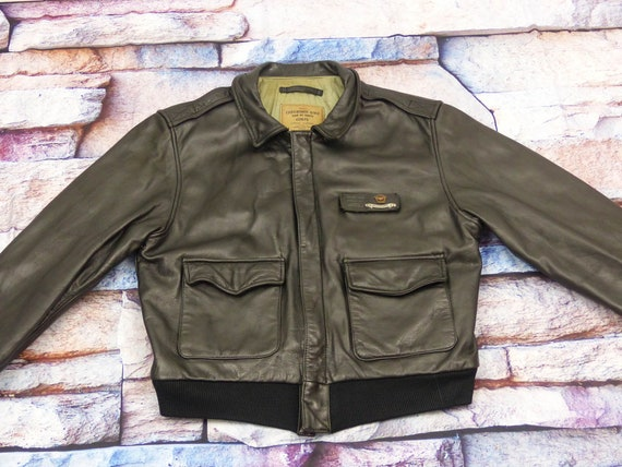 Chevignon Leather Jacket - Old Flight Airs Corps