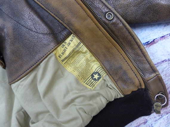 Chevignon Leather Jacket - Old Flight - image 8