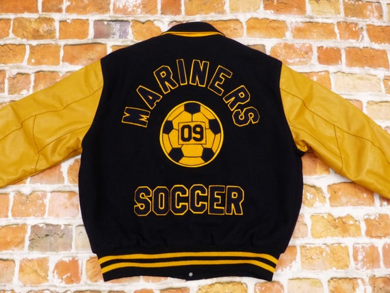 De Long High School College Varsity Jacket Mariner