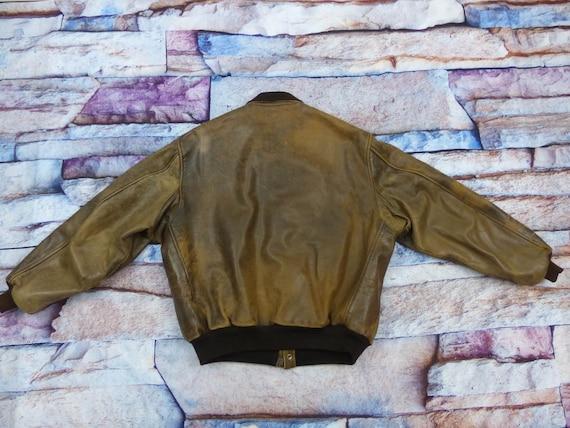 Chevignon Leather Jacket - Old Flight - image 5