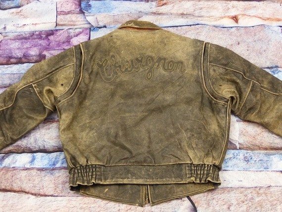 Chevignon Leather Jacket - Motorcycle