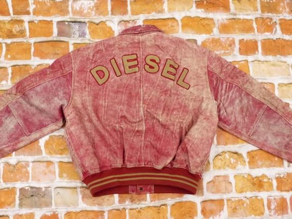 Diesel leather jacket red