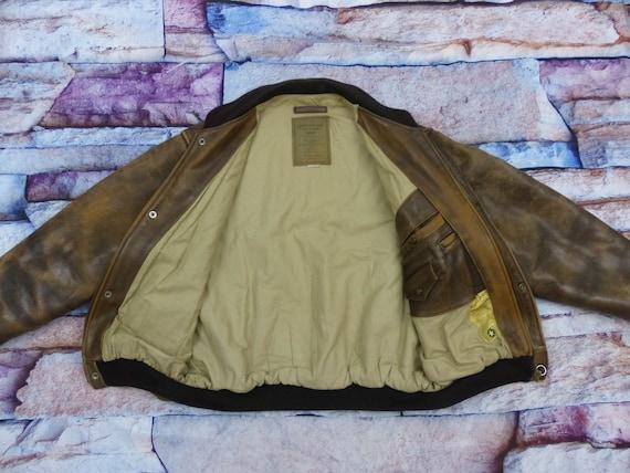 Chevignon Leather Jacket - Old Flight - image 6