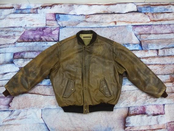 Chevignon Leather Jacket - Old Flight