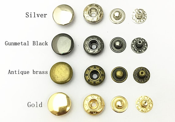 12.5mm S Spring Press Studs Bronze Snap Fastener Poppers Button Sewing Leather