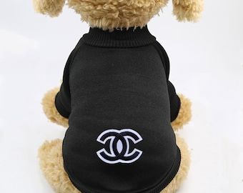 47691affd CHANEL sweater for Dogs   Cats Dog Cat Sweater Hoodie Pet Clothing Designer  Coco