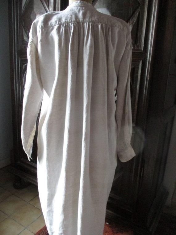 Mens antique shirt.  1800s linen shirt. Costume. … - image 8