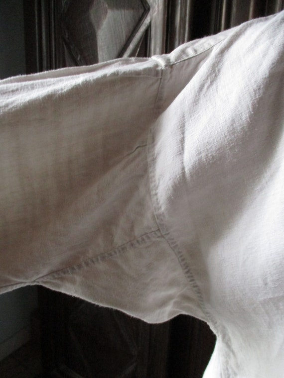 Mens antique shirt.  1800s linen shirt. Costume. … - image 5