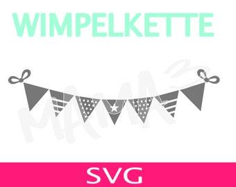 Wimpelkette, Clipart, svg, Plotter, Datei, Nordic, Scandinavian, skandinavisch