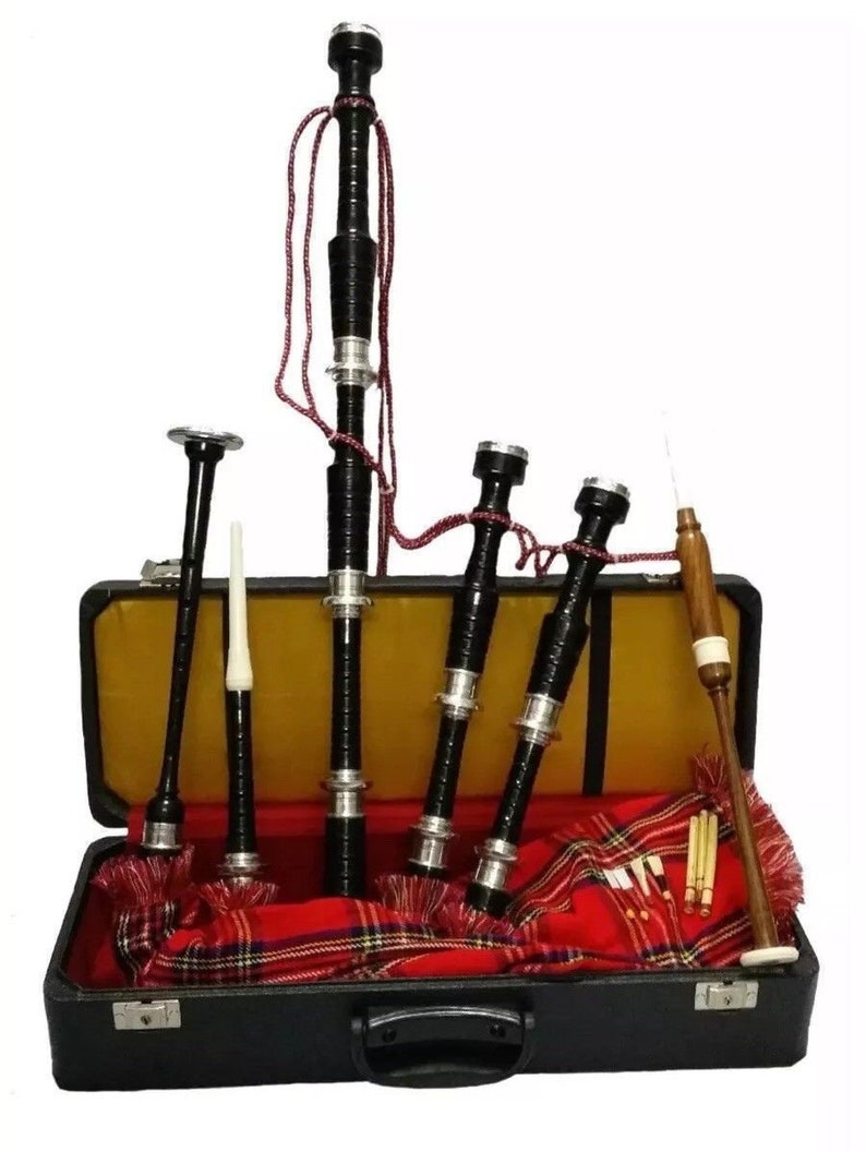 Brand New Scottish Highland Bagpipe With full silver mounts and Free Hard case