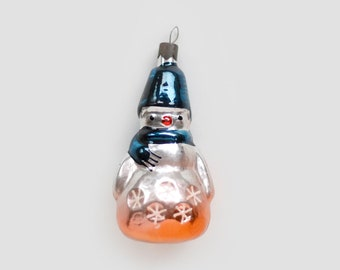 Monkey w Ukulele RestoredRepainted Vintage RussianSovietUSSR Mercury Blown Glass Christmas Hanging OrnamentBaubleDecoration