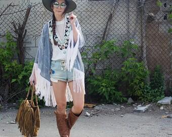 40347f21665 Stevie Nicks style fringe Kimono