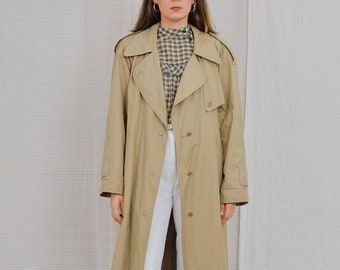 International ZARY Beige trench Vintage 90's women coat minimalist spring autumn belted reglan sleeve XXXL