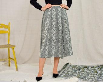 Snakeskin skirt Vintage 90's printed animal minimalist high waist women one size L-XXXXL