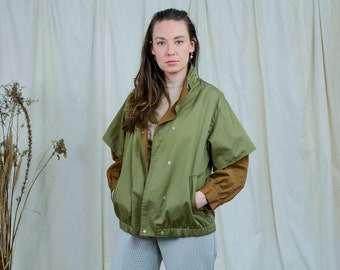 Military jacket green vintage rare spring women oversized M/L