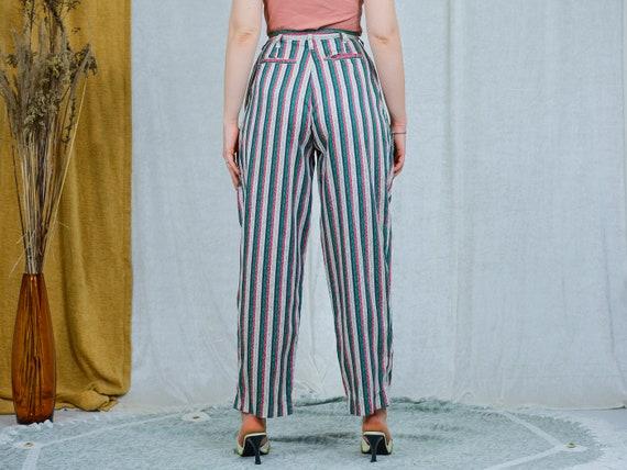 Myrene de Premonville pants W27 relaxed fit strip… - image 6