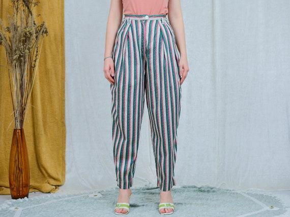 Myrene de Premonville pants W27 relaxed fit strip… - image 3