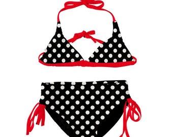 72a110895bac Polka Dots & Red Girl's Swimwear: Bikini