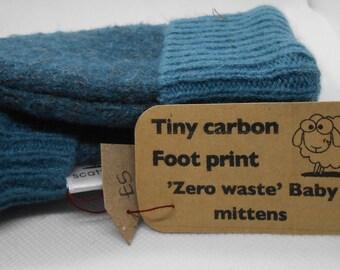 Handmade baby mittens   Recycled baby mittens   Upcycled baby shower gift   Baby sweater mittens   Christmas Gift