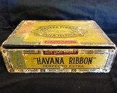 Vintage Havana Ribbon Cigar Box