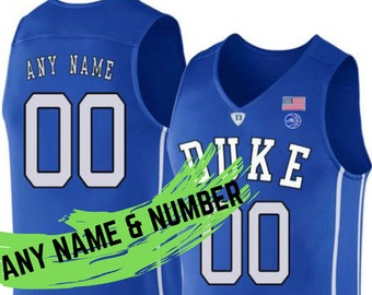 f0a427c74d7 Stitched custom-made Duke BLUE DEVILS Blue Men & Youth Custom Duke blue  DEVILS Blue, Black or White Basketball Jersey