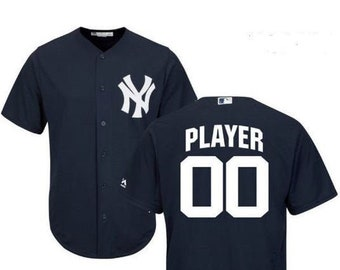 f9e9e2ba1 Stitched Men's New York Yankees Custom Name & number Cool Base Baseball  Jersey 2019 Stitched