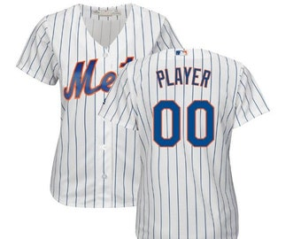 0901baf4d672e7 Stitched WOMEN New York Mets Custom Name & number Cool Base Baseball Jersey  2019 Stitched Name And Number