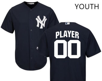 4fb05e437e5 Youth New York Yankees Custom Name   number Cool Base Baseball Jersey 2019