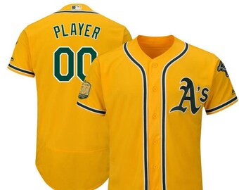 a747125c5 Stitched Mens Oakland Athletics Custom Name & number Flex Base Baseball  Jersey 2019 Stitched Name And Number