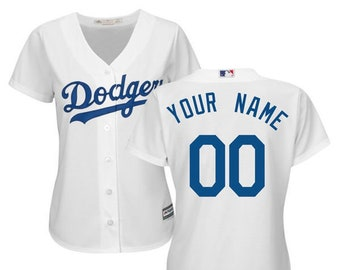 bdb7e4594 Women Los Angeles Dodgers Custom Name   number Cool Base Baseball Jersey  2019