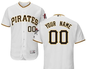 06294e1f979 Mens Pittsburgh Pirates Custom Name   number Flex Base Baseball Jersey 2019