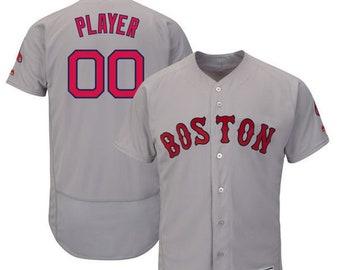 1a389350f Mens Boston Red Sox Custom Name   number Flex Base Baseball Jersey 2019
