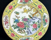 Chinese Antique Famille Rose Porcelain Plate With Flowers And Birds