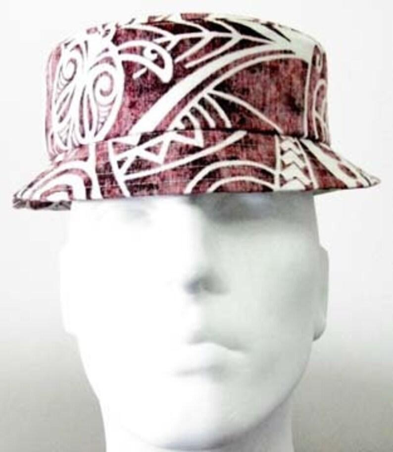 luau hat Floral multi red WSO aloha hat Hawaii Bucket Hat: Hawaiian print hat,Hawaiian fabric,made in Hawaii,chapeau 1552 cancer hat
