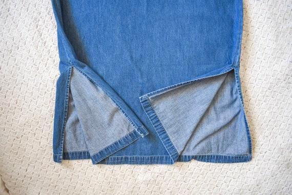 80s 90s vintage denim shift dress | vintage mediu… - image 9