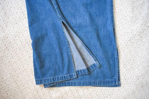 80s 90s vintage denim shift dress | vintage mediu… - image 8