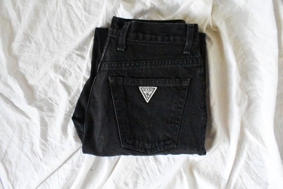 80s vintage Guess mom jeans | black high waisted j