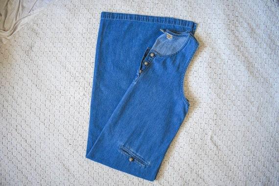 80s 90s vintage denim shift dress | vintage mediu… - image 3