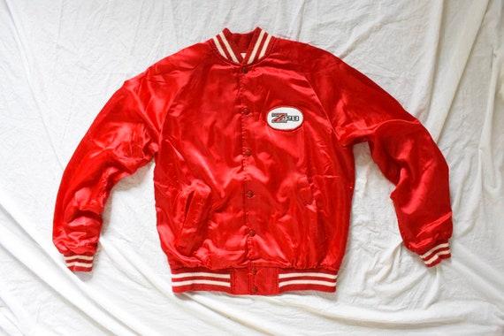 50s 60s vintage racer jacket | satin racer jacket… - image 2