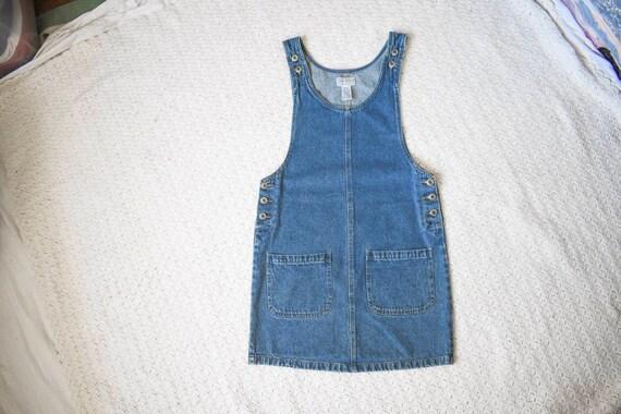 90s vintage Arizona medium blue denim jean jumper… - image 1