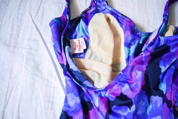 70s 80s funky retro vintage one piece swimsuit   … - image 7