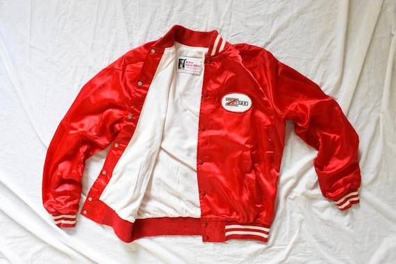 50s 60s vintage racer jacket | satin racer jacket… - image 1