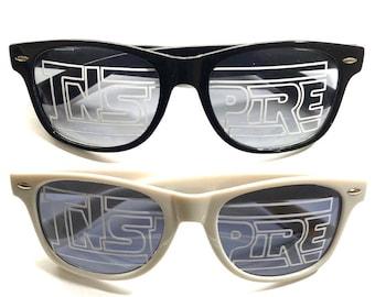 Inspire Sunglasses Option 2 (Lens Logos)