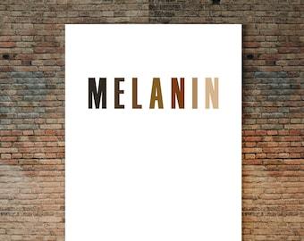 Melanin Shades Poster, Black Art, African American Art, Afro Art, Urban Art,  Black Lives Matter, Black History, Black Love, Self-Love