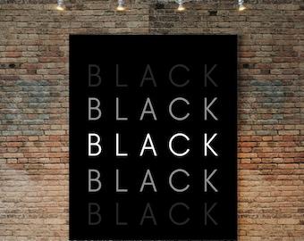Black Power Art Poster Black Culture Heritage I Am Black History Month Melanin Inspiring Inspirational Afrocentric African American