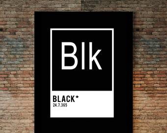 Black Element Poster, Black art, black print, melanin print, African american art, urban art,  negro art,