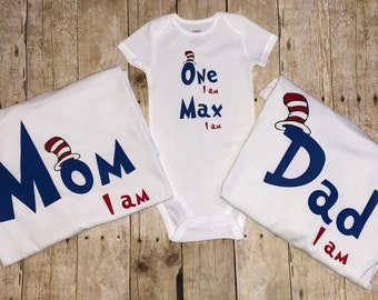 29043ddc8 Dr. Seuss family shirts, mom, dad, baby and siblings available! Great for  birthday partys