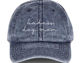 29360262 Badass Dog Mom Vintage Dad Hat